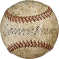 Autographs:Baseballs, Connie Mack and Walker Cooper Dual-Signed Baseball. The legendary Connie Mack offers a booming sweet spot signature to the ...