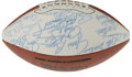 Football Collectibles:Balls, Pro Football Hall of Famers Multi-Signed Football. A total of one dozen members of the Pro Football Hall of Fame have each ...