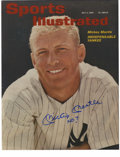 """Autographs:Photos, Mickey Mantle """"No.7"""" Signed Photograph. Reproduction of a July 2, 1962 Sports Illustrated cover. Large blue sharpie. ..."""
