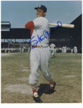 "Autographs:Photos, Stan Musial Signed Photograph. Large blue sharpie signature on thisfine 11x14"" print. LOA from PSA/DNA...."