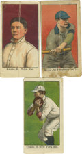"""Baseball Cards:Lots, 1910 Mello-Mint (E105) Baseball Group Lot of 3. Issued circa 1910by Smith's Mello-Mint, """"The Texas Gum,"""" this set of 50 car..."""