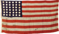 Military & Patriotic:Civil War, A Flag of the 7th New York Infantry This is a hand-sewn 36-star, 13 stripe Union flag of the 7th New York Infantry which mu...