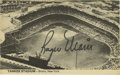 Autographs:Post Cards, Roger Maris Signed Postcard of Yankee Stadium. Super black sharpie signature. Rarely seen depiction of Yankee Stadium signe...
