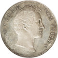 German States:Bavaria, German States: Bavaria. Ludwig I 2 Taler 1842, KM431.1, MS65 NGC,gorgeous soft gray toning over fully brilliant, original surfaces.Royal ...