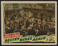 "Destry Rides Again (Universal, 1939). Lobby Card (11"" X 14""). Western. The role of Frenchy was a comeback of s..."