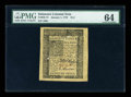 Colonial Notes:Delaware, Delaware January 1, 1776 18d PMG Choice Uncirculated 64....