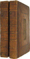 Books:Early Printing, John Milton. The Poetical Works of Mr. John Milton. Volume the First [Second]. London: Printed for Jacob Tonson ... (Total: 2 Items)