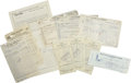 Autographs:U.S. Presidents, Jack Ruby Group of Documents. ... (Total: 12 Items)