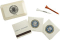 Autographs:U.S. Presidents, [John F. Kennedy] Commemorative Matches, Soap, and Golf Tees. ...(Total: 6 Items)