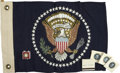 Autographs:U.S. Presidents, [John F. Kennedy] Commemorative Car Flag, Matches, and LapelPin.... (Total: 6 Items)