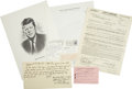 Autographs:U.S. Presidents, JFK Assassination Group.... (Total: 4 Items)