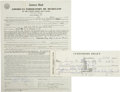 Autographs:U.S. Presidents, [Kennedy Assassination] Jack Ruby Signed Documents. ... (Total: 2Items)