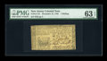 Colonial Notes:New Jersey, New Jersey December 31, 1763 1s PMG Choice Uncirculated 63 EPQ....