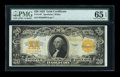 Large Size:Gold Certificates, Fr. 1187 $20 1922 Gold Certificate PMG Gem Uncirculated 65 EPQ....