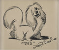 Animation Art:Production Drawing, Joe Rinaldi Lady and the Tramp Peg Sketch Original Art(undated)....