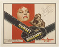 Movie/TV Memorabilia:Autographs and Signed Items, Gloria Swanson Signed Sunset Boulevard Poster....