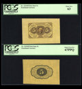 Fractional Currency:First Issue, Fr. 1231SP 5c First Issue PCGS Choice New 63 and Superb Gem New67PPQ.... (Total: 2 notes)