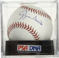 Autographs:Baseballs, Ozzie Smith Single Signed Baseball, PSA Mint+ 9.5. ...