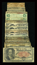 Fractional Currency:Fifth Issue, A Large Group of Lower Grade Fractional.... (Total: 22 notes)