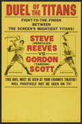 """Movie Posters:Action, Duel of the Titans (Paramount, 1963). One Sheet (27"""" X 41"""") StyleB. Action...."""