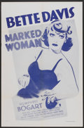 """Movie Posters:Crime, Marked Woman (Dominant, R-1956). One Sheet (27"""" X 41""""). Crime...."""