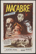 "Movie Posters:Horror, Macabre (Allied Artists, 1958). One Sheet (27"" X 41""). Horror...."