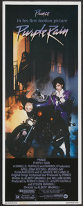 "Movie Posters:Rock and Roll, Purple Rain (Warner Brothers, 1984). Insert (14"" X 36""). Rock andRoll...."