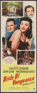 "Movie Posters:Adventure, Bride of Vengeance (Paramount, 1949). Insert (14"" X 36"").Adventure...."