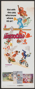 """Movie Posters:Animated, The Aristocats (Buena Vista, 1971). Insert (14"""" X 36""""). Animated...."""
