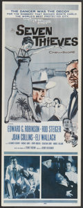 "Movie Posters:Crime, Seven Thieves (20th Century Fox, 1959). Insert (14"" X 36""). Crime...."