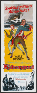 "Movie Posters:Adventure, Kidnapped (Buena Vista, 1960). Insert (14"" X 36""). Adventure...."