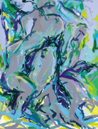 ELAINE DE KOONING (American, 1919-1989) Untitled (Bacchus), 1982 Oil on canvas 58 x 44 inches (14