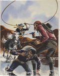 Original Comic Art:Covers, Warren Sattler Billy the Kid #112 Cover Original Art(Charlton, 1975).... (Total: 2 Items)