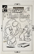 Original Comic Art:Covers, George Wildman Timmy the Timid Ghost #25 Cover Original Art(Charlton, circa 1970s)....