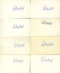 Autographs:Index Cards, Carl Hubbell Signed Index Cards Lot of 8. ... (Total: 8 items)
