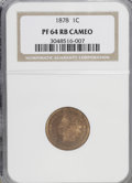 Proof Indian Cents, 1878 1C PR64 Red and Brown Cameo NGC. PCGS Population (4/12). (#82323)...
