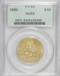 Liberty Eagles: , 1860 $10 AU53 PCGS. PCGS Population (10/16). NGC Census: (18/51).Mintage: 15,105. Numismedia Wsl. Price for NGC/PCGS coin ...