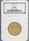 Liberty Eagles: , 1877-S $10 AU50 NGC. NGC Census: (16/91). PCGS Population (15/7).Mintage: 17,000. Numismedia Wsl. Price for NGC/PCGS coin ...