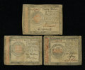 Colonial Notes:Continental Congress Issues, Three Continentals from the Final Issue.... (Total: 3 notes)