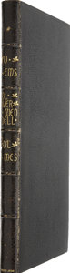 Books:First Editions, Oliver Wendell Holmes. Poems. Boston/New York: Otis,Broaders, and Company/George Dearborn and Company, 1836....