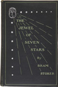 Books:First Editions, Bram Stoker. The Jewel of Seven Stars. New York: Harper& Brothers, 1904....