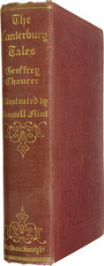 Books:Fiction, Geoffrey Chaucer. The Canterbury Tales of Geoffrey Chaucer,Illustrated After Drawings by W. Russell Flint. London: ...
