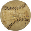 Autographs:Baseballs, Early 1930's Kenesaw Mountain Landis Single Signed Baseball....