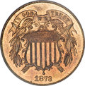 1873 2C Closed 3 PR65 Red and Brown PCGS....(PCGS# 3652)