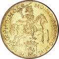 Netherlands East Indies, Netherlands East Indies: Gold 16 Ducats, 19th Century Presentationpiece of the Gelderland Ducatoon,...