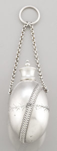 Silver Smalls:Other , AN AMERICAN SILVER PERFUME FLASK. Gorham Manufacturing Co.,Providence, Rhode Island, circa 1875. Marks: (lion-anchor-G),...