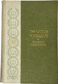 Books:First Editions, F. Marion Crawford. The Witch of Prague, A Fantastic Tale.London: Macmillan and Co., 1891....