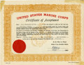 Autographs:U.S. Presidents, Lee Harvey Oswald Marine Corps Certificate of Acceptance. ...(Total: 2 Items)