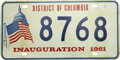 Autographs:U.S. Presidents, [John F. Kennedy] Inaugural Commemorative License Plate.... (Total:10 Items)
