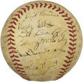Autographs:Baseballs, 1940 Detroit Tigers Team Signed Baseball....